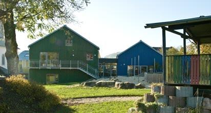Garten des Kindergartens in Neureichenau